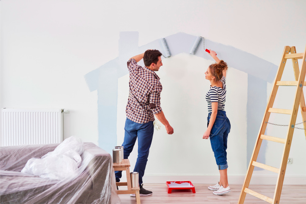 Home-updates-couple-painting